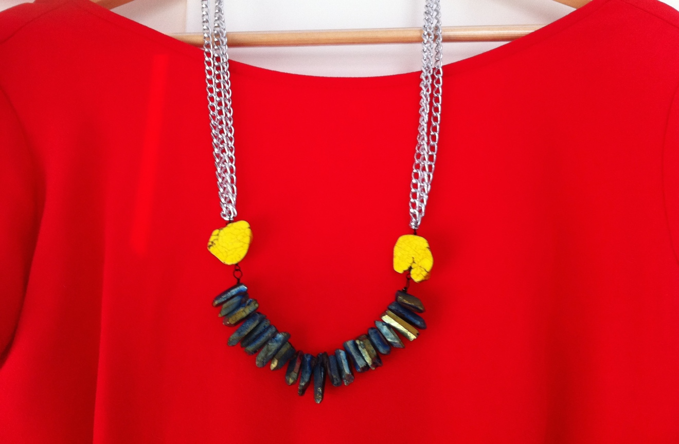 DIY Anthropologie Inspired Necklace! Plus it will only take you 15 minutes! #necklace